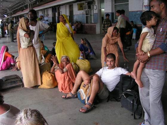 תחנת רכבת, הודו.