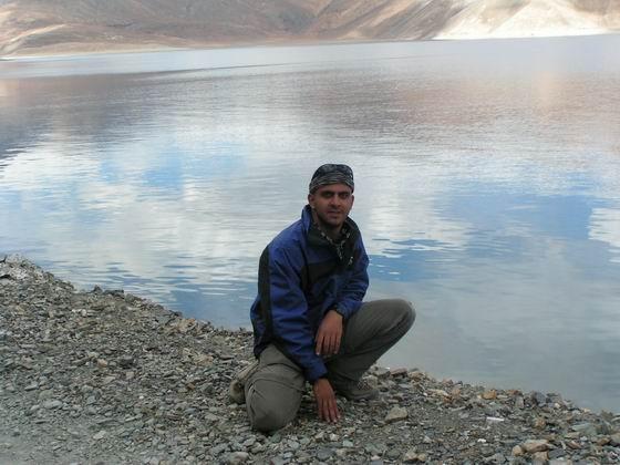 אגם פנגונג , לאדק, הודו.