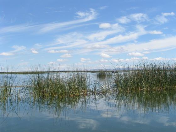 אגם טיטיקקה, פרו.