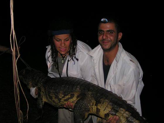 צייד תנינים בלילה, ג'ונגלים, בוליביה.