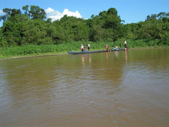 נהר בין הג'ונגלים בפמפס,  בוליביה.