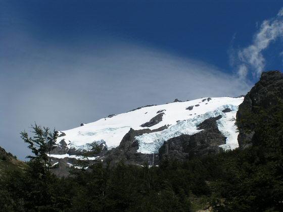 קרחון  בטרק הטורוסים, פתגוניה, צ'ילה.
