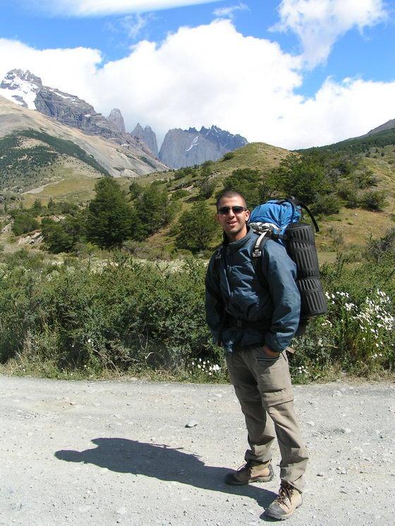 תחילת טרק הטורוסים, פתגוניה, צ'ילה.