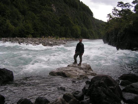 נהר, איזור האגמים, צ'ילה.