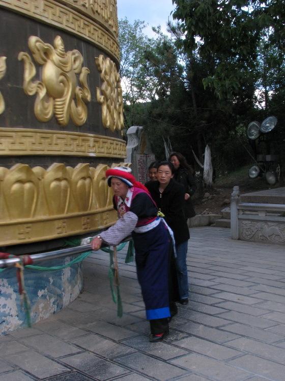 גלגל תפילה, שנגרילה, סין