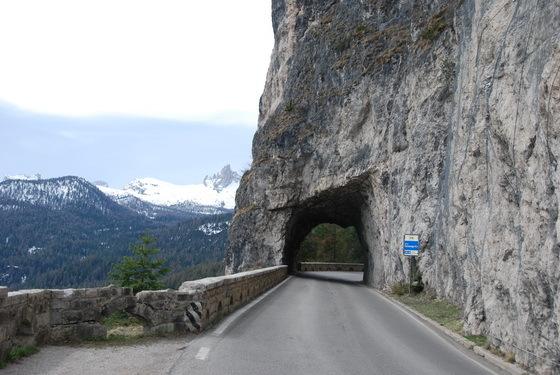 כבישים באזור ה�ולומיטים