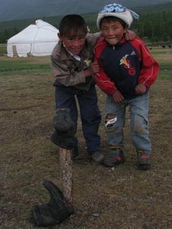 ילדים במונגוליה